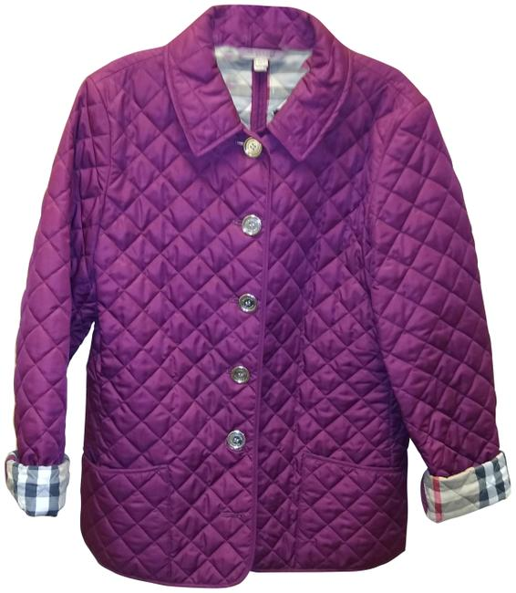 Item - Plum Quilted Jacket Size 8 (M)