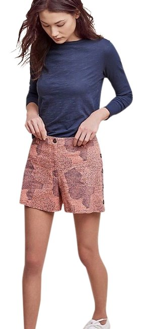 Item - Orange & Black Cartonnier Button Shorts Size 12 (L, 32, 33)
