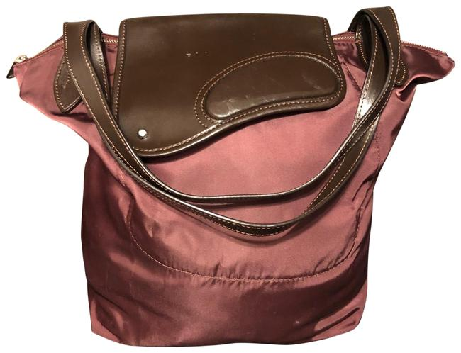 Item - Mahogany & Chocolate Brown Nylon with Leather Tote