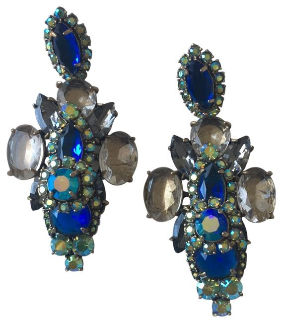 Item - Multi - Blue Green Grey Statement By Earrings