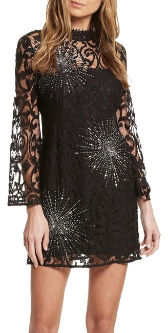 Item - Black North Star Lace Starburst Mini Short Cocktail Dress Size 8 (M)