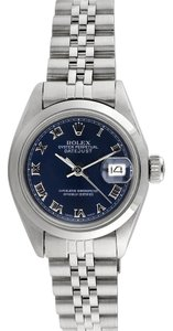 Rolex Rolex Datejust Stainless Steel Blue Dial Ladies Watch