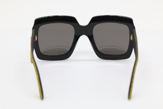 Gucci NEW GUCCI GG0102S BLACK/GOLD (002) WITH GREY LENSES Image 3