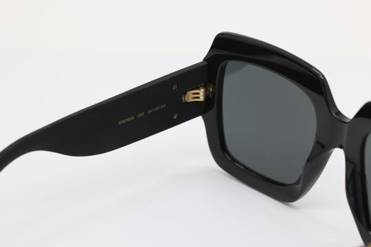 Gucci NEW GUCCI GG0102S BLACK/GOLD (002) WITH GREY LENSES Image 6