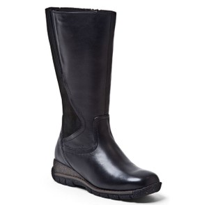 Blondo Water-resistant Leather Rubber Sole Wool Lining Black Boots
