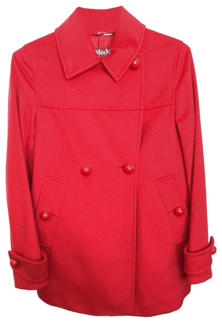 Item - Red Wool Coat Size 2 (XS)