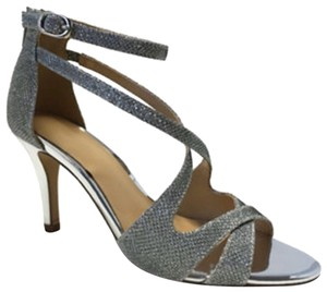 Expressions Sparkly Glitter Mirrored Heel Silver Formal