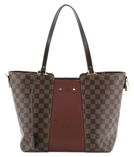 Preload https://img-static.tradesy.com/item/26241524/louis-vuitton-jersey-handbag-damier-brown-canvas-with-leather-satchel-0-1-540-540.jpg