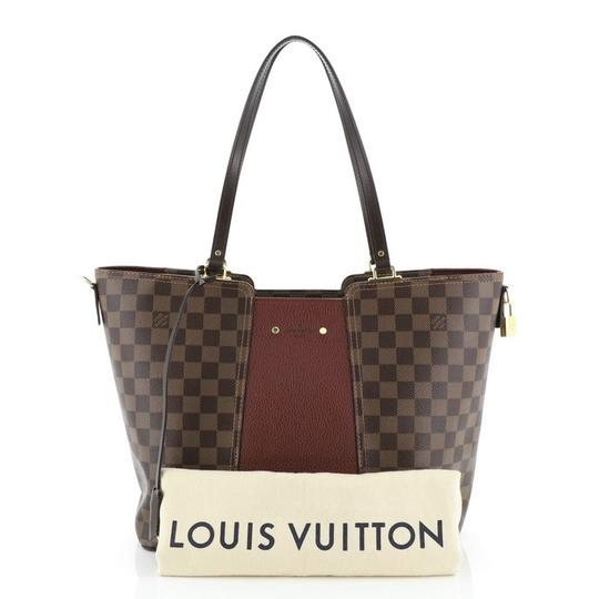 Louis Vuitton Canvas Leather Satchel in Brown Image 1
