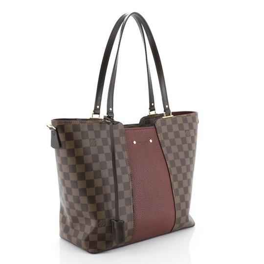 Louis Vuitton Canvas Leather Satchel in Brown Image 2