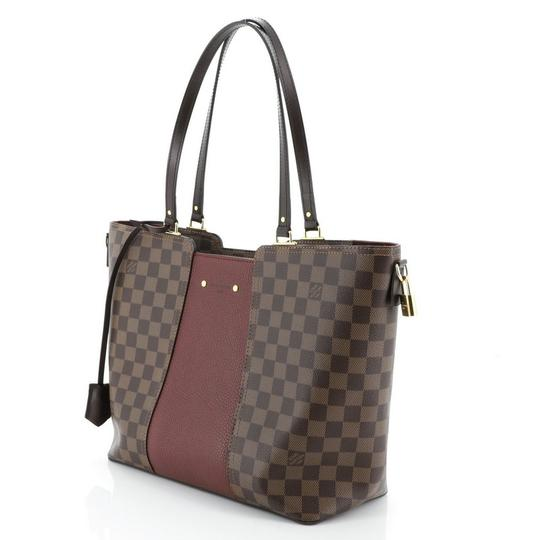 Louis Vuitton Canvas Leather Satchel in Brown Image 3