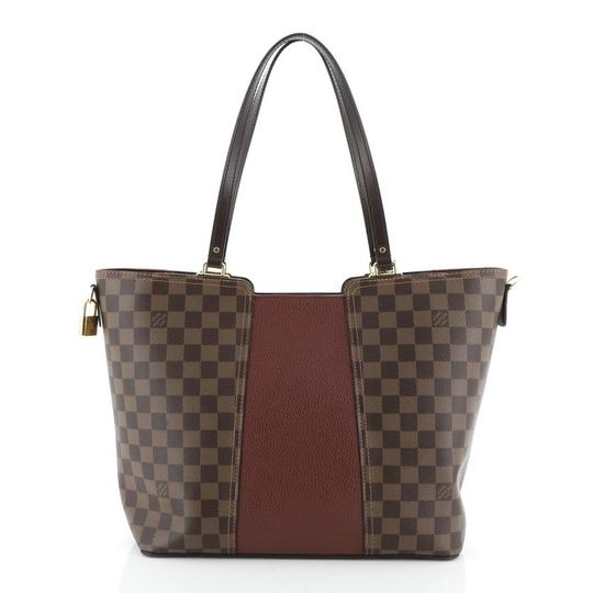Louis Vuitton Canvas Leather Satchel in Brown Image 4