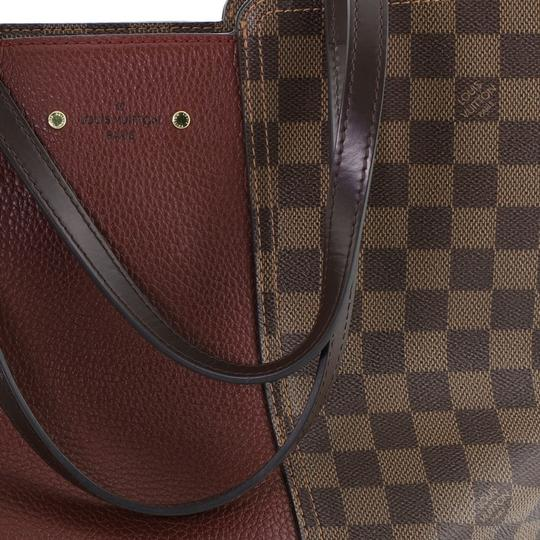 Louis Vuitton Canvas Leather Satchel in Brown Image 7