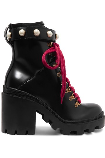 Preload https://img-static.tradesy.com/item/26241624/gucci-black-trip-pearl-embellished-lace-up-leather-heeled-bootsbooties-size-eu-41-approx-us-11-regul-0-0-540-540.jpg