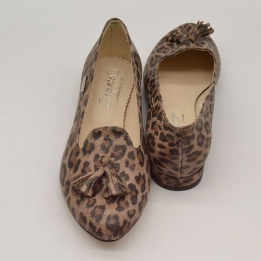 Zapato Panterka Leopard Tassels Leather Brown Flats Image 2