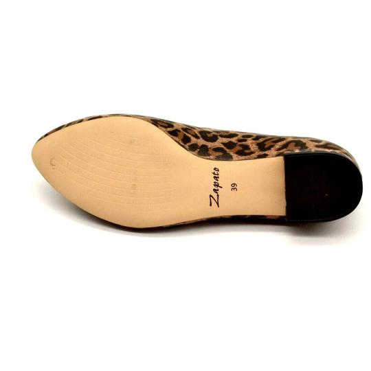Zapato Panterka Leopard Tassels Leather Brown Flats Image 4