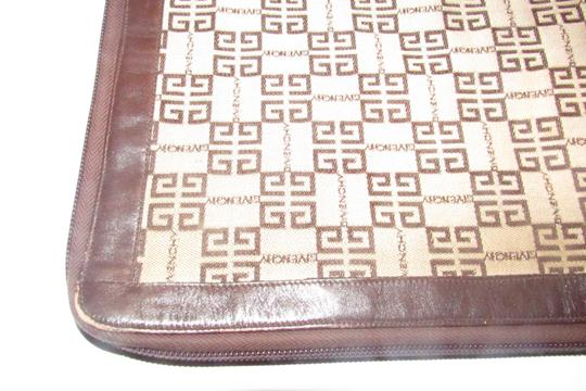 Givenchy Xl Clutch/Laptop Tan/Brown Excellent Vintage Square Rare Unusual beige/brown logo print Clutch Image 5