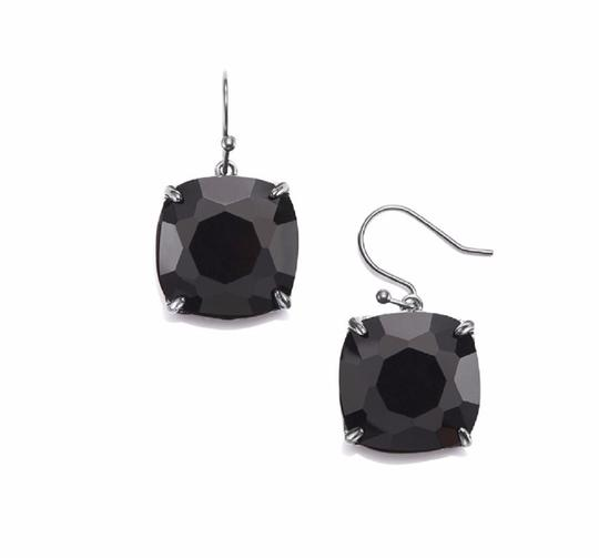 Tory Burch NEW Tory Burch Crystal Stone Drop Earrings Jet Black Hematite Image 6