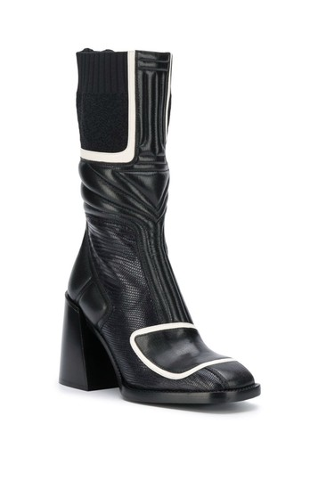 Chloé Chloelovers Chunky Lizard Effect Midnight Boots Image 0
