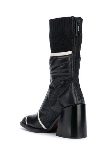 Chloé Chloelovers Chunky Lizard Effect Midnight Boots Image 1