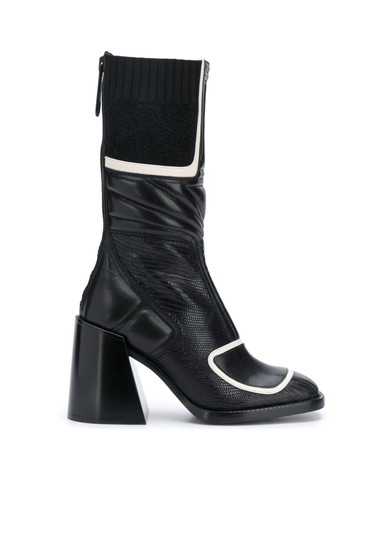 Chloé Chloelovers Chunky Lizard Effect Midnight Boots Image 3