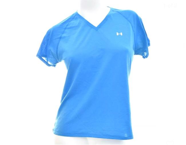 Under Armour Under Armour Sport Top V Neck Blue Size Large Image 2