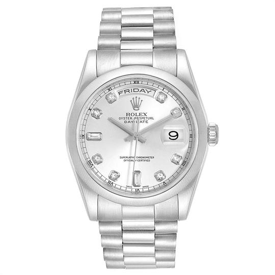 Rolex Rolex President Day-Date White Gold Diamond Dial Mens Watch 118209 Image 1
