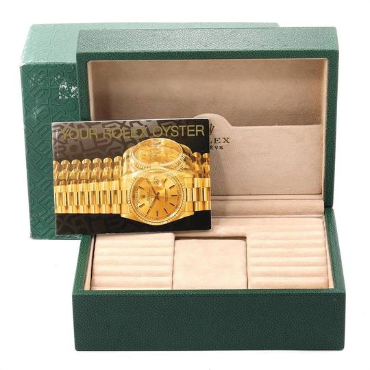 Rolex Rolex President Day-Date White Gold Diamond Dial Mens Watch 118209 Image 10