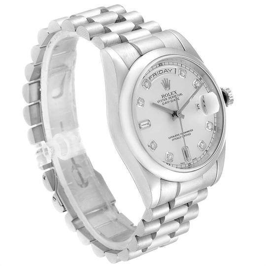 Rolex Rolex President Day-Date White Gold Diamond Dial Mens Watch 118209 Image 2