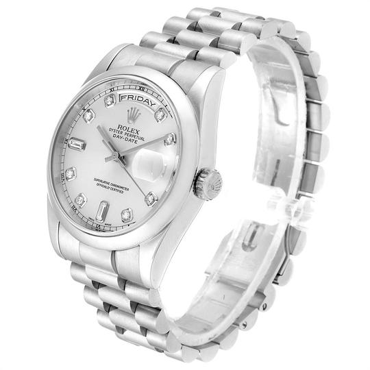 Rolex Rolex President Day-Date White Gold Diamond Dial Mens Watch 118209 Image 3