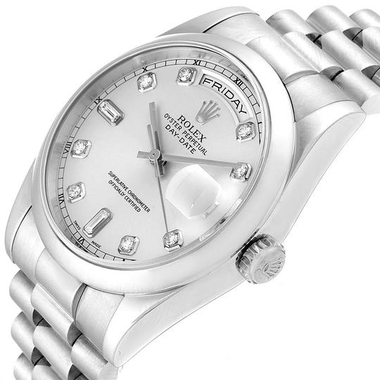 Rolex Rolex President Day-Date White Gold Diamond Dial Mens Watch 118209 Image 4