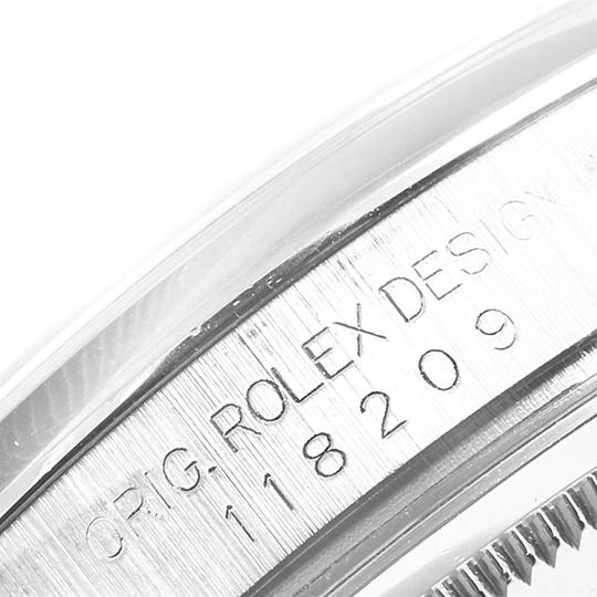 Rolex Rolex President Day-Date White Gold Diamond Dial Mens Watch 118209 Image 5
