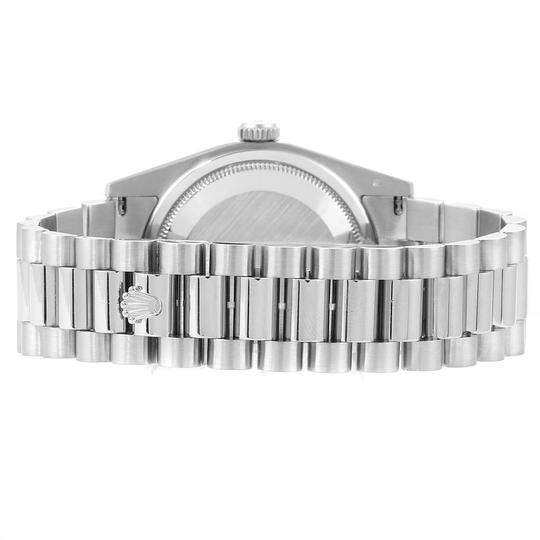 Rolex Rolex President Day-Date White Gold Diamond Dial Mens Watch 118209 Image 8