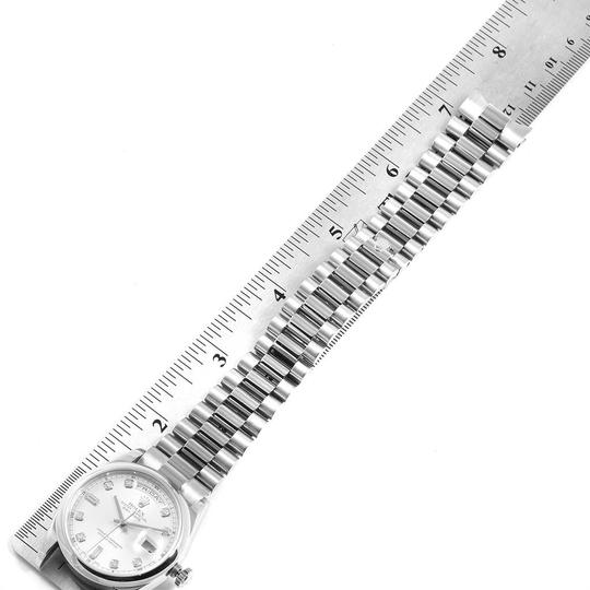 Rolex Rolex President Day-Date White Gold Diamond Dial Mens Watch 118209 Image 9