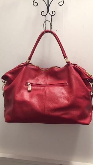 Ora Delphine Satchel in Cardinal Red Image 1