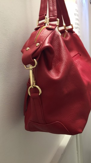 Ora Delphine Satchel in Cardinal Red Image 2
