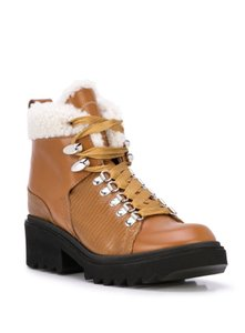Chloé Chloelovers Shearling Hiking Leather Canyon Boots