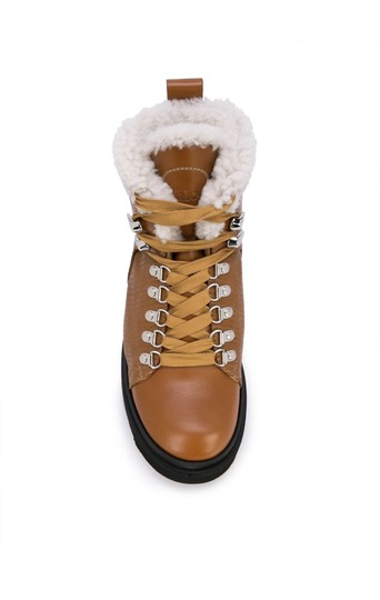 Chloé Chloelovers Shearling Hiking Leather Canyon Boots Image 1