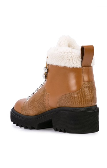 Chloé Chloelovers Shearling Hiking Leather Canyon Boots Image 2