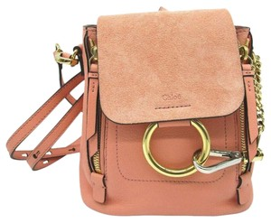 Chloé Faye Drew Mini Nile Peach Backpack