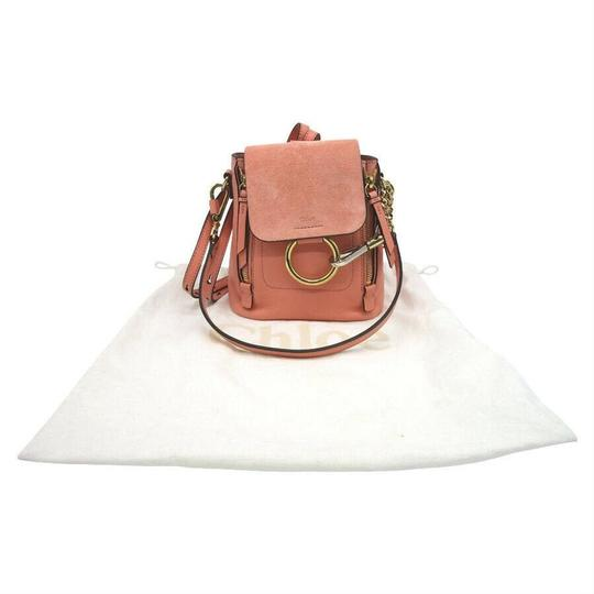 Chloé Faye Drew Mini Nile Peach Backpack Image 1