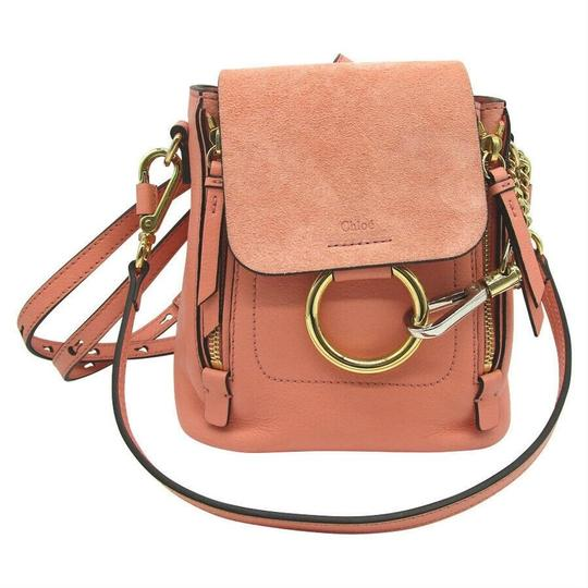 Chloé Faye Drew Mini Nile Peach Backpack Image 2