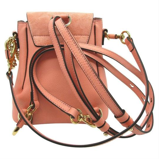 Chloé Faye Drew Mini Nile Peach Backpack Image 5