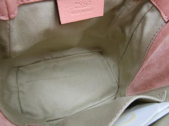 Chloé Faye Drew Mini Nile Peach Backpack Image 8