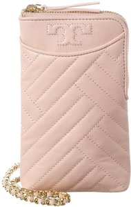 Tory Burch NEW Tory Burch Alexa Pink Quilted Phone Leather Crossbody