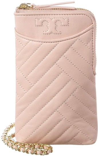 Preload https://img-static.tradesy.com/item/26241865/tory-burch-shell-pink-crossbody-alexa-new-quilted-phone-leather-tech-accessory-0-3-540-540.jpg