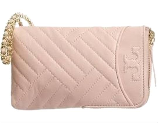 Tory Burch NEW Tory Burch Alexa Pink Quilted Phone Leather Crossbody Image 1