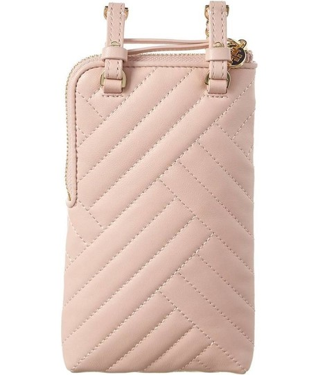 Tory Burch NEW Tory Burch Alexa Pink Quilted Phone Leather Crossbody Image 2