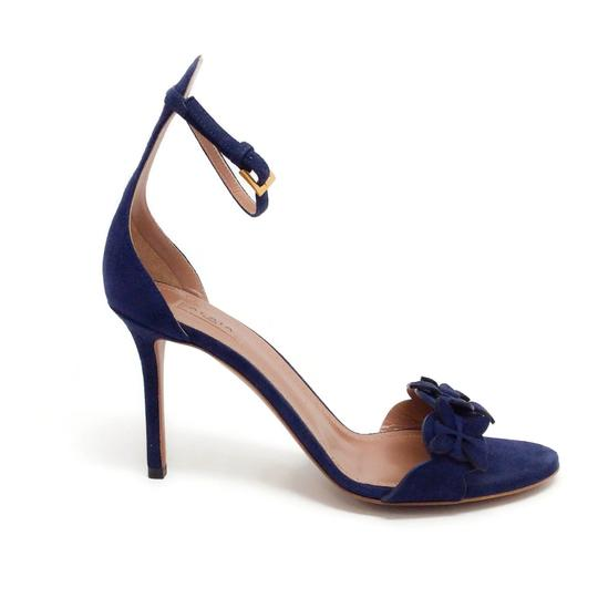 ALAA Blue Suede Sandals Image 1