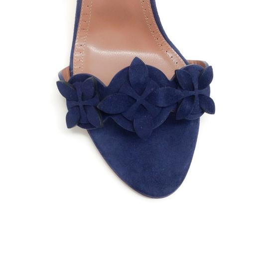ALAA Blue Suede Sandals Image 4